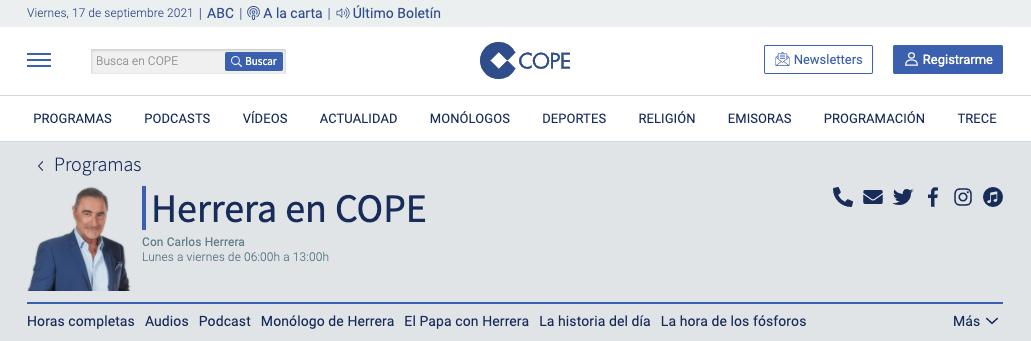"""Fundación Hay Salida en """"Herrera en COPE"""""""